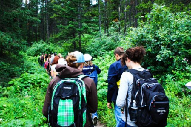 lions waterton leadership camp hike